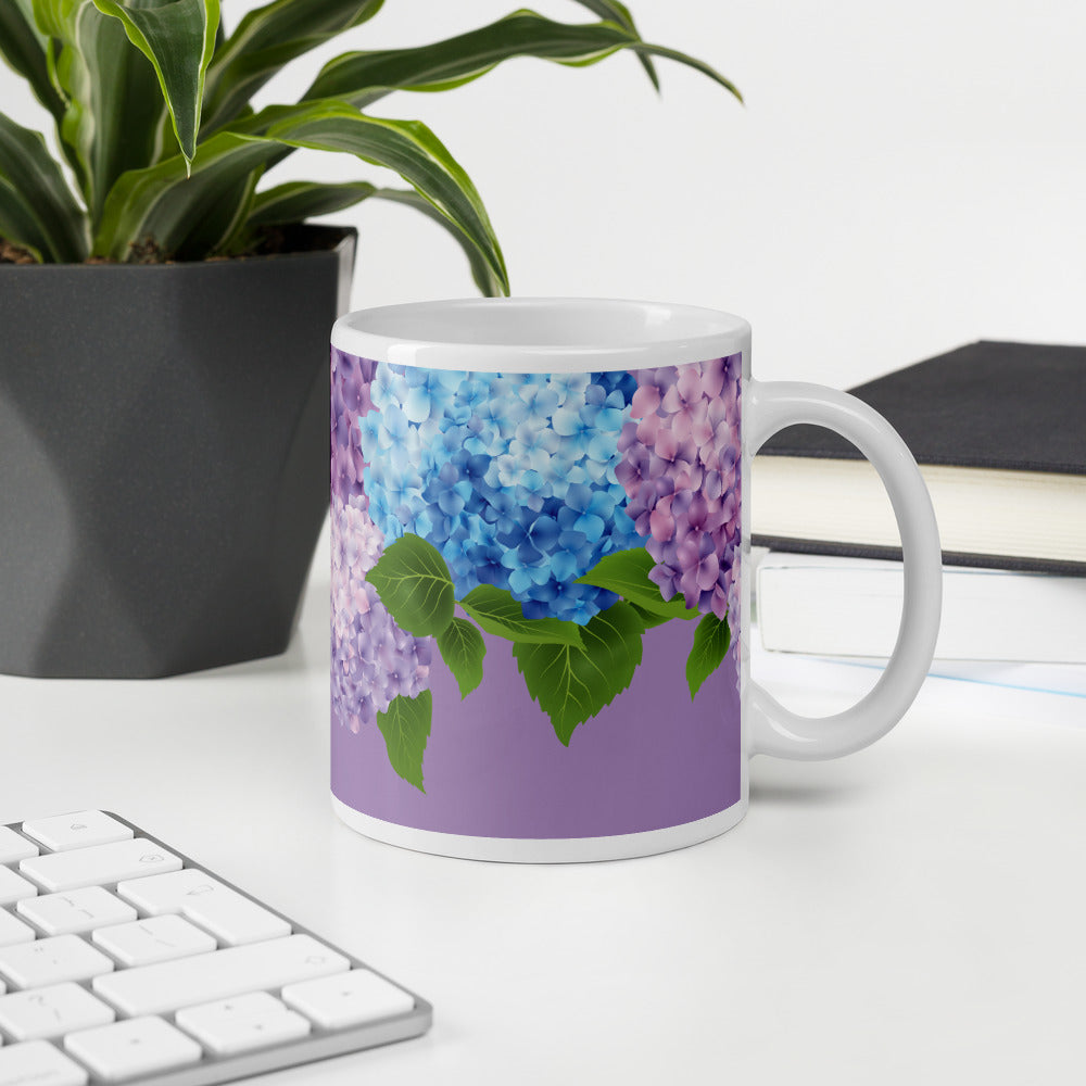 Purple Blue pink Floral Coffee Mug