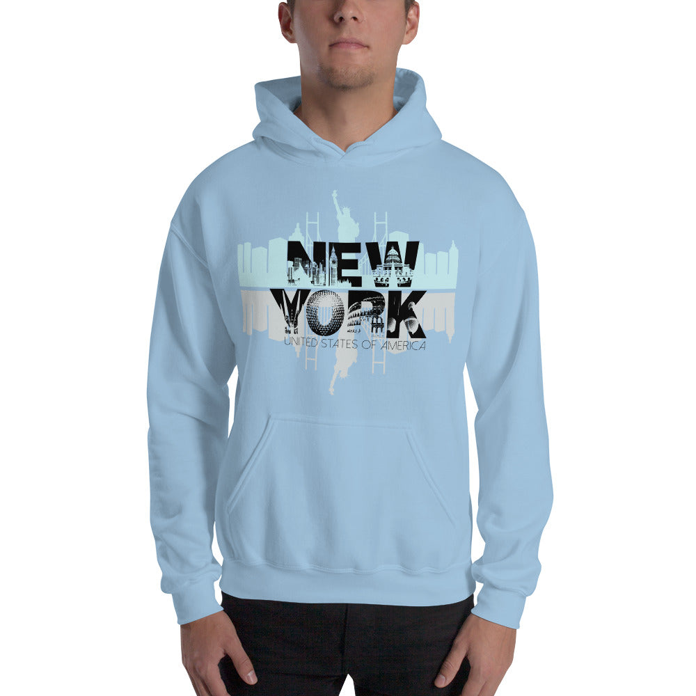 New York Blue Hoodie for Men