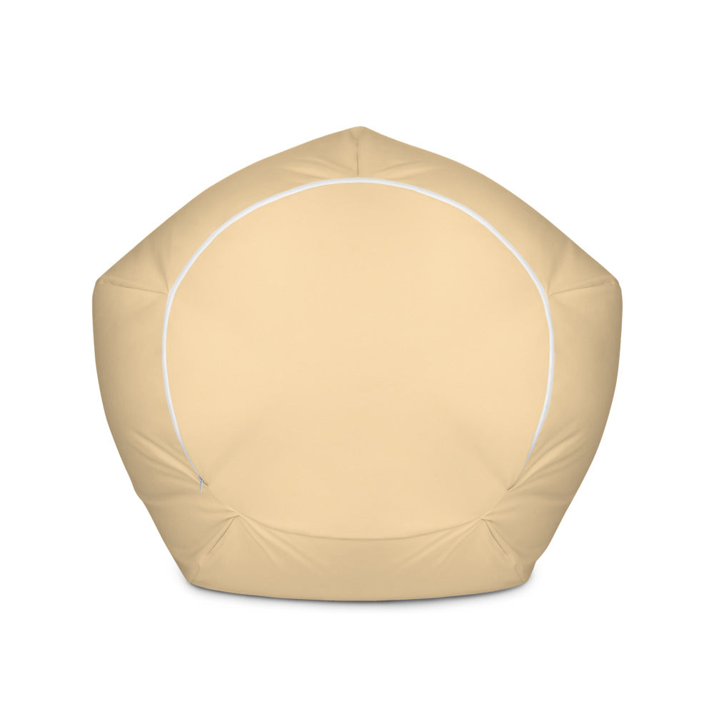 Cream Color Bean Bag Chair w/ filling