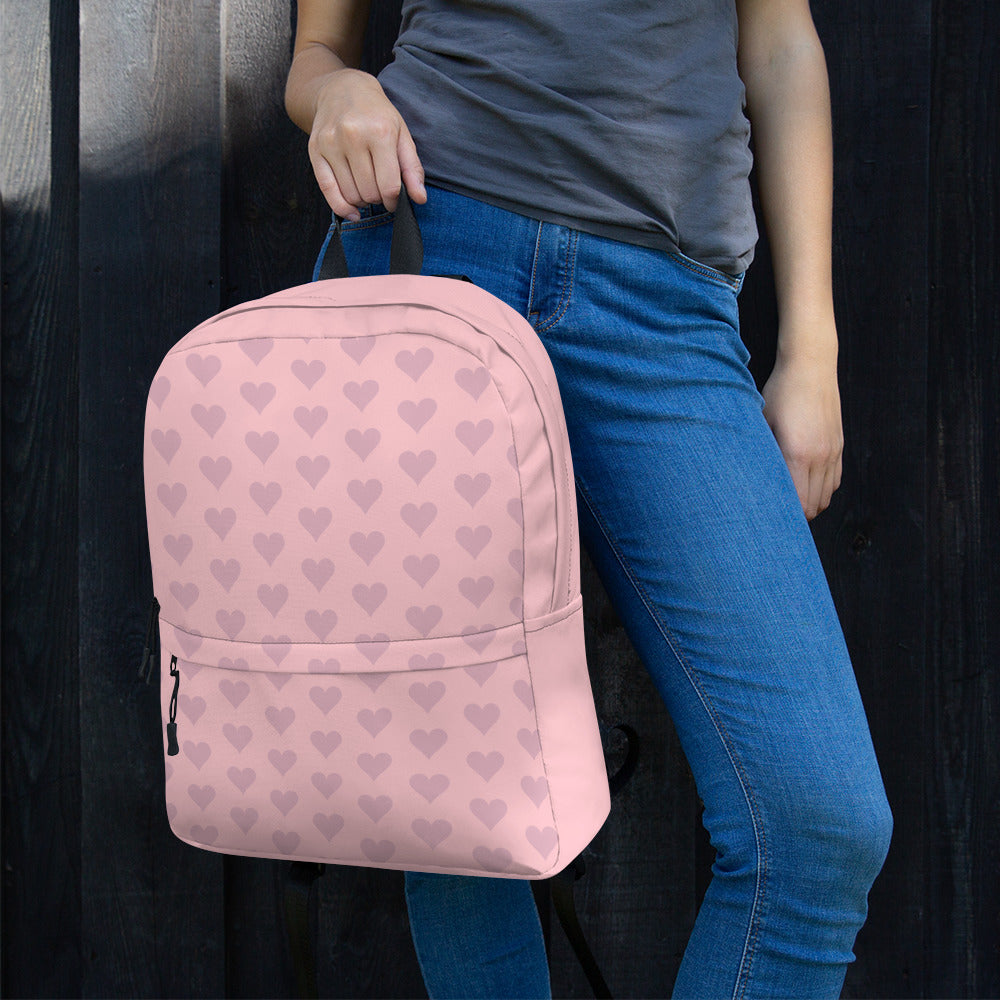 Valentine Pink Heart Backpack