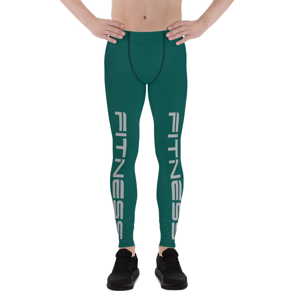 Green Fitness Men's Leggings
