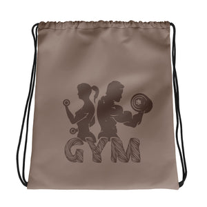 Gym Power Brown Drawstring bag