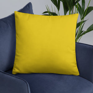 Animal Lovers Yellow Throw Pillows