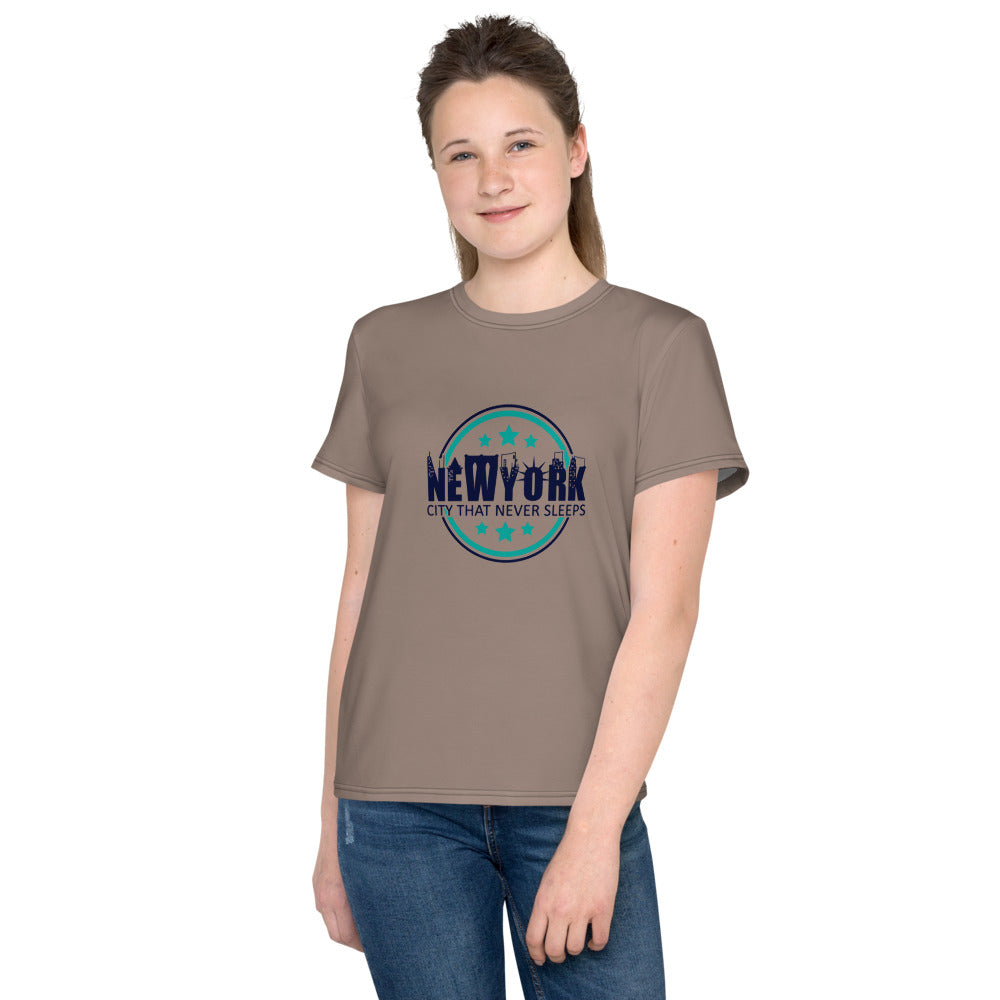 New York Nude T-Shirt for Girls