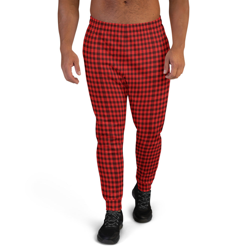 Black Red Men's Joggers