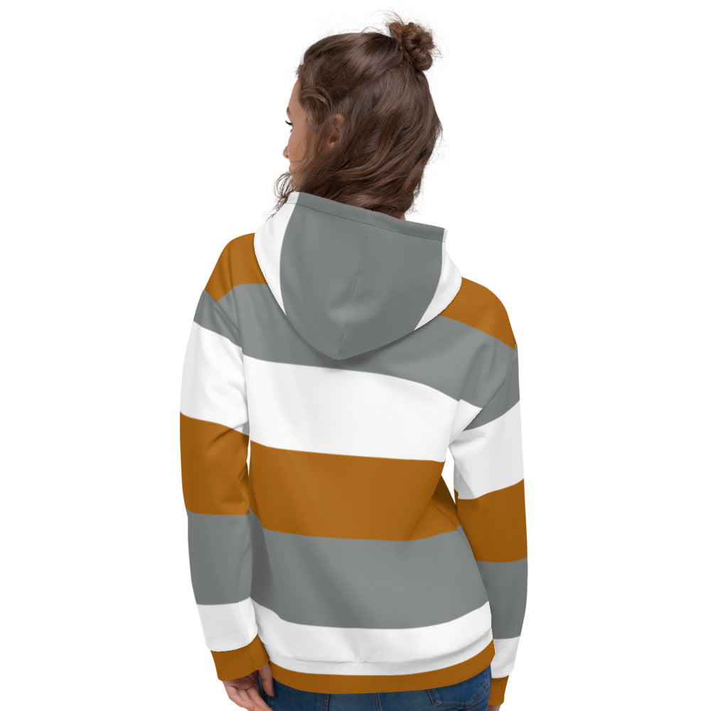 Brown Grey and White Hoodie for Women