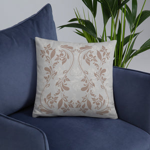 Floral Swirl Throw Pillow