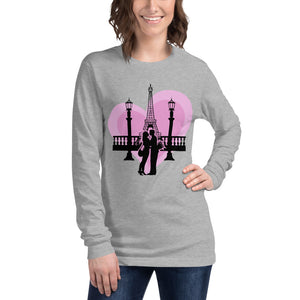 Eiffel Tower Valentine's Long Sleeve T-Shirt Women