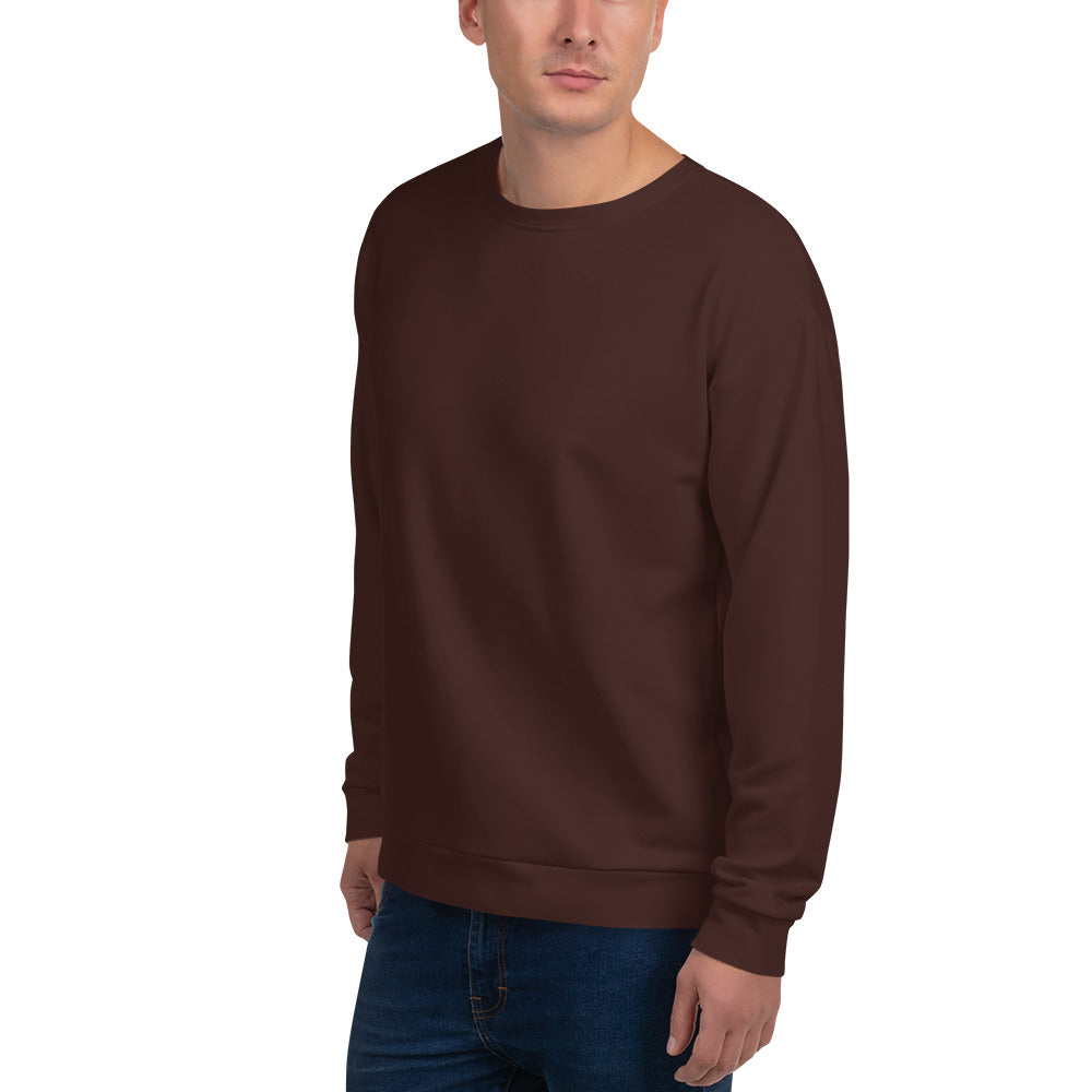 Dark Brown Unisex Sweatshirt