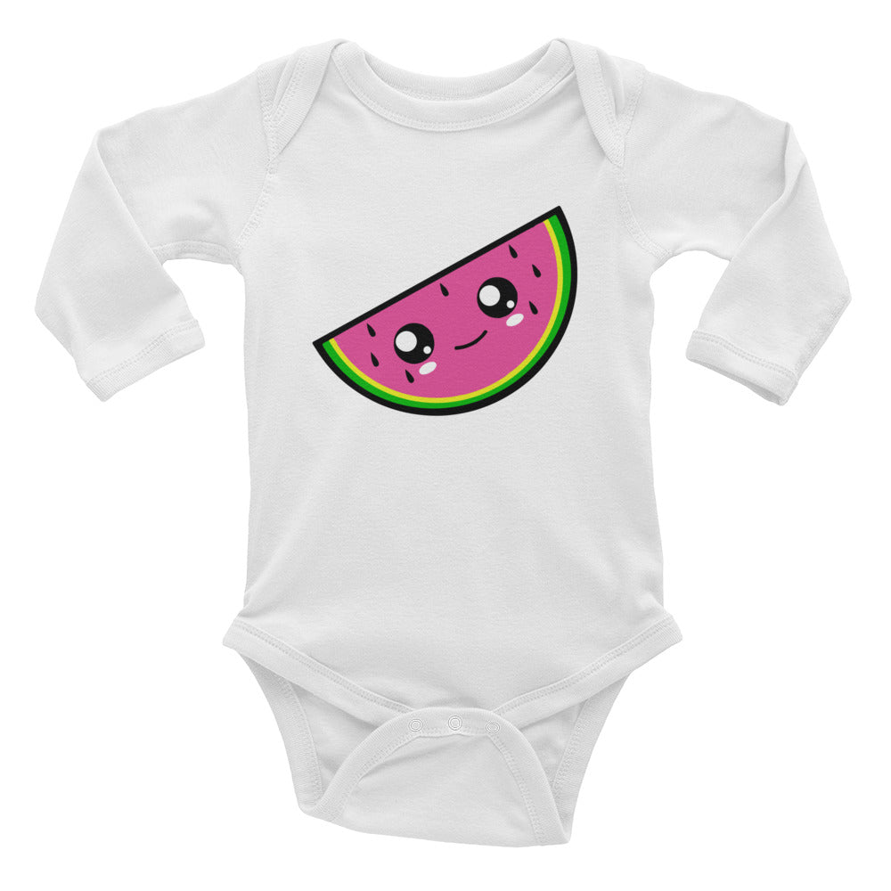 Watermelon Baby Long Sleeve Bodysuit