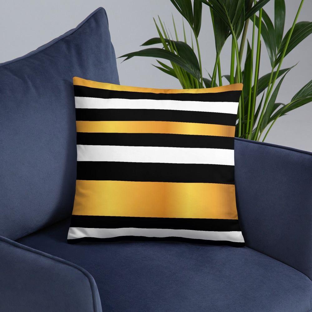 Gold and Black Luxury Throw Pillows