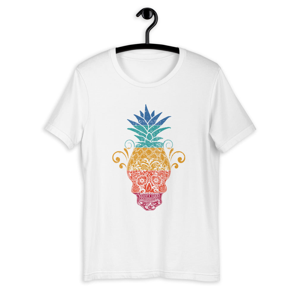 Pineapple Sugar Skull T-Shirt for Men