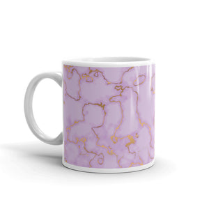 Lilac and Golden Marble Coffee Mug