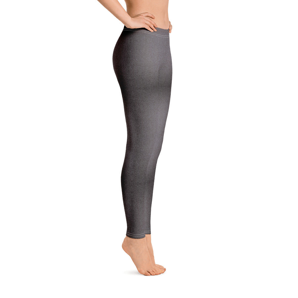 Black and Grey Shaded Denim Leggings left