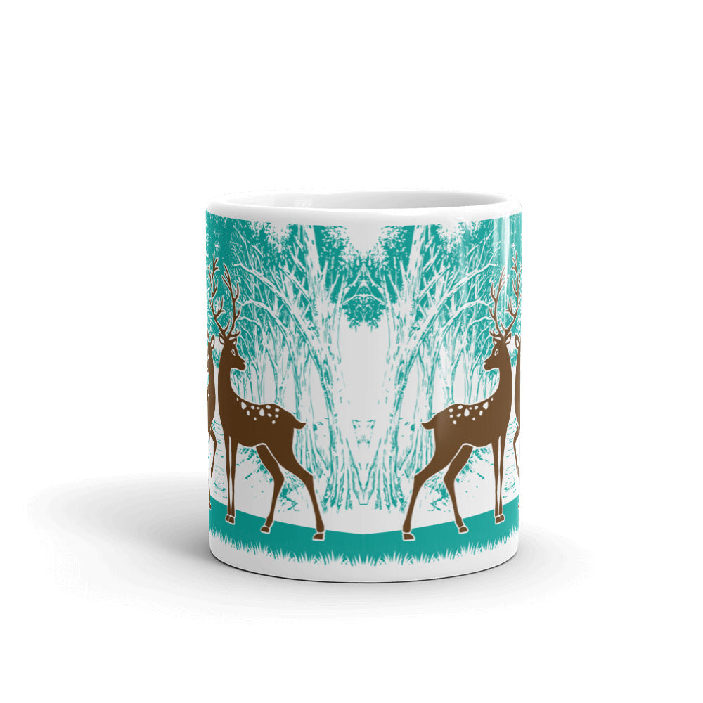 Coffee Mug With a Picture of Brown Wild Deer