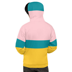 Pink Yellow and Teal Titanic Unisex Hoodie