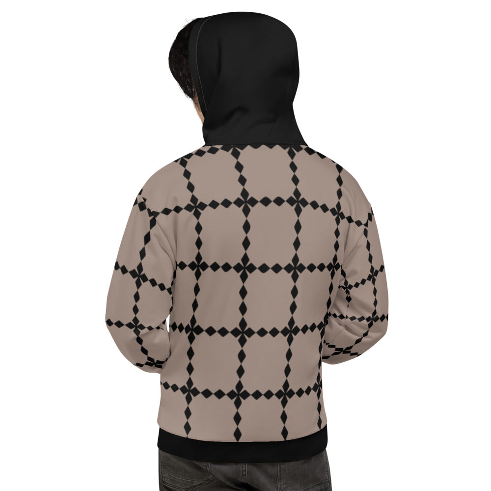 Black and Brown Seamless Pattern Unisex Hoodie