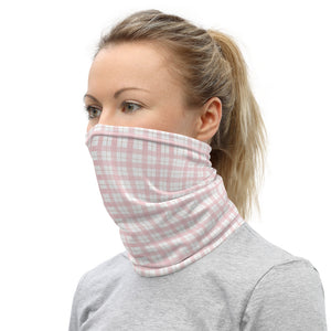 Face Mask - Baby Pink Buffalo Print Neck Gaiter