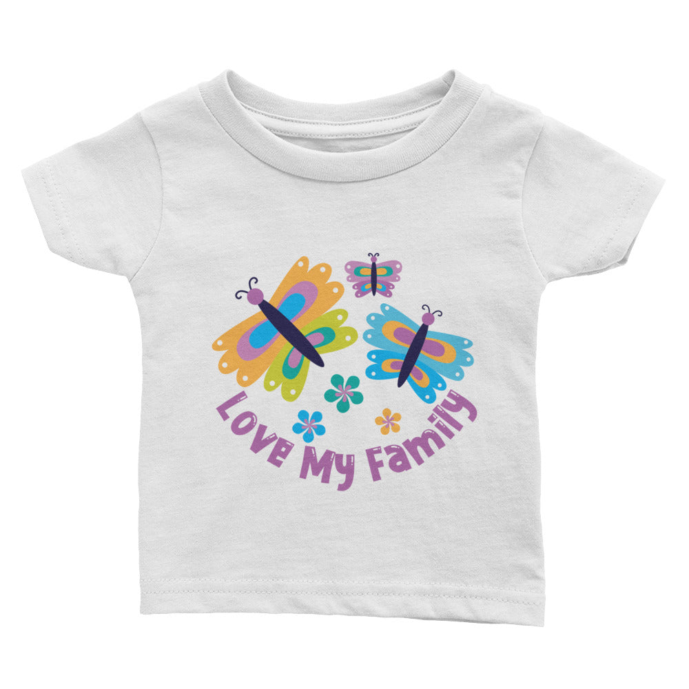 Butterfly Love My Family Infant Tee