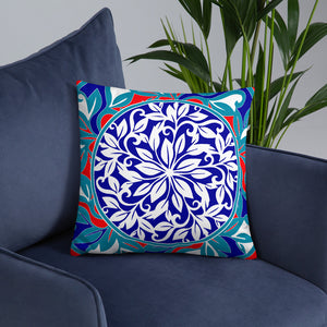 Traditional Floral Design Throw Pillows