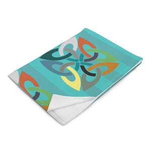 Modern Abstract Pattern Throw Blanket