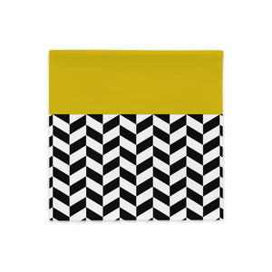 Tricolor Zigzag Pillow Case