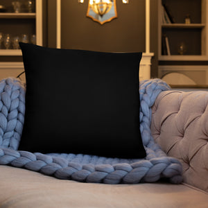 Black Traditional Abstract Throw Pillows