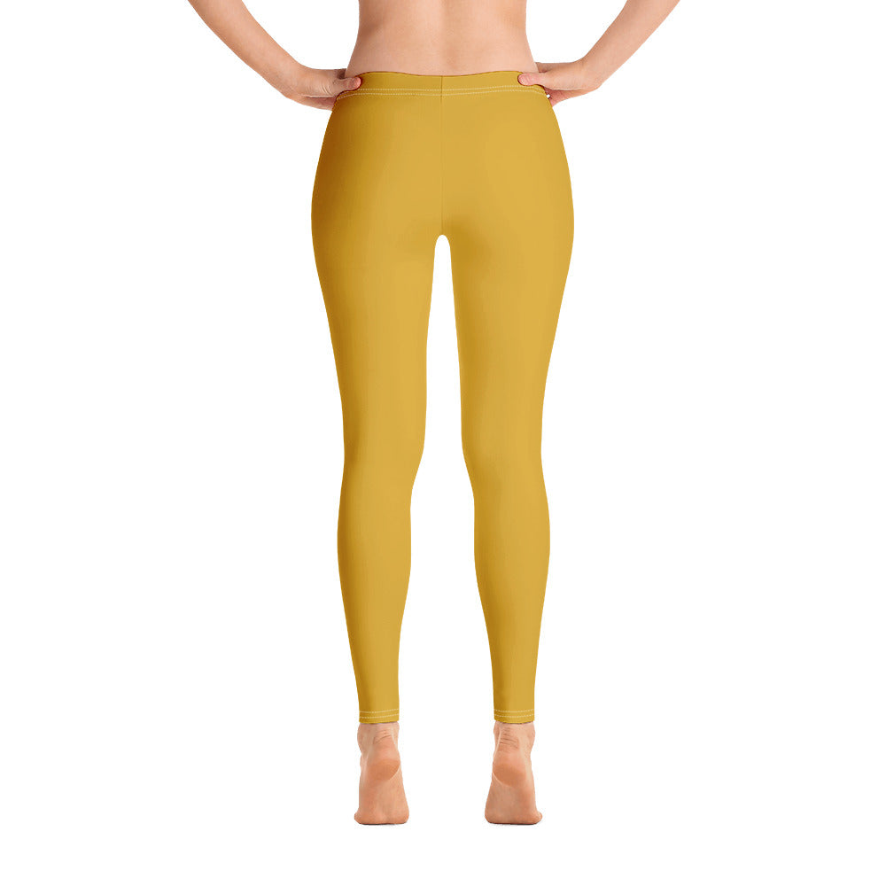 Golden Yellow Leggings for Womens Back