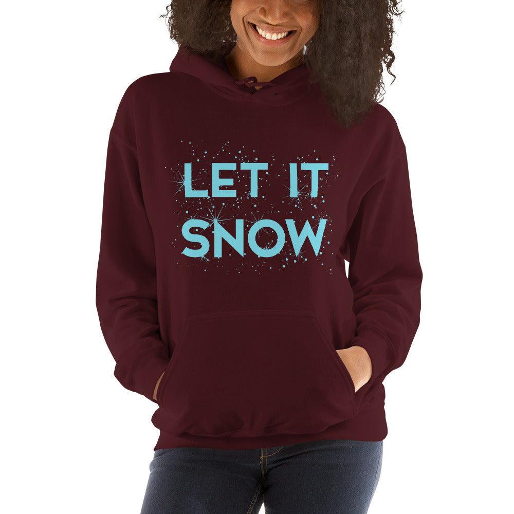 Let It Snow Women's Hoodie Pullover maroon