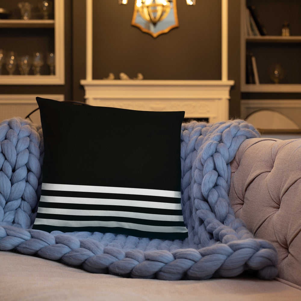 Black and White Striped Throw Pillow