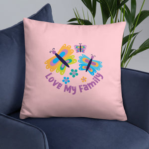 Love My Family Throw Pillow