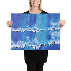 Abstract Blue Watercolor Canvas