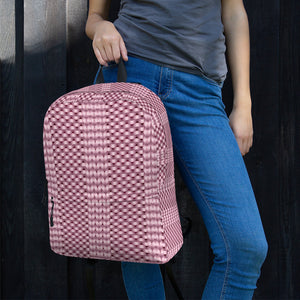 Pink Knitted Pattern Backpack