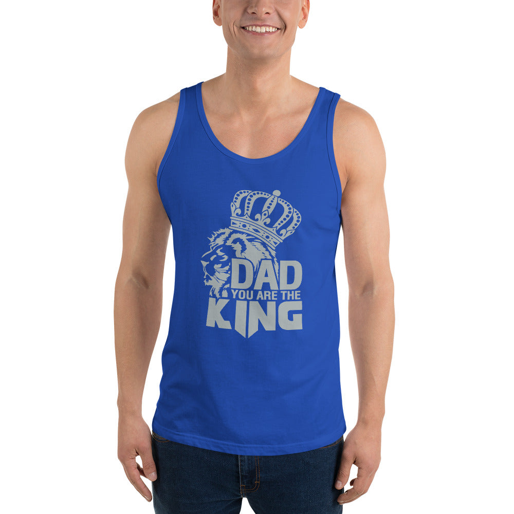 Dad Is My King Father's Day Unisex Tank Top