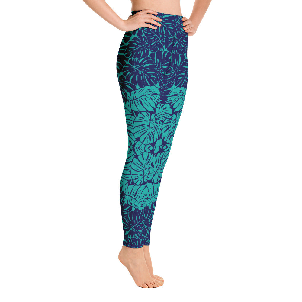 Tropical Leaves Yoga Leggings