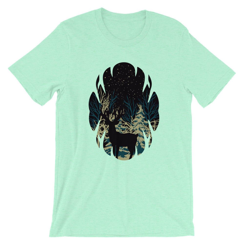 Reindeer Dark Forest T-Shirt for Men