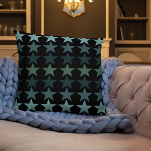 Star Pattern Black Throw Pillows