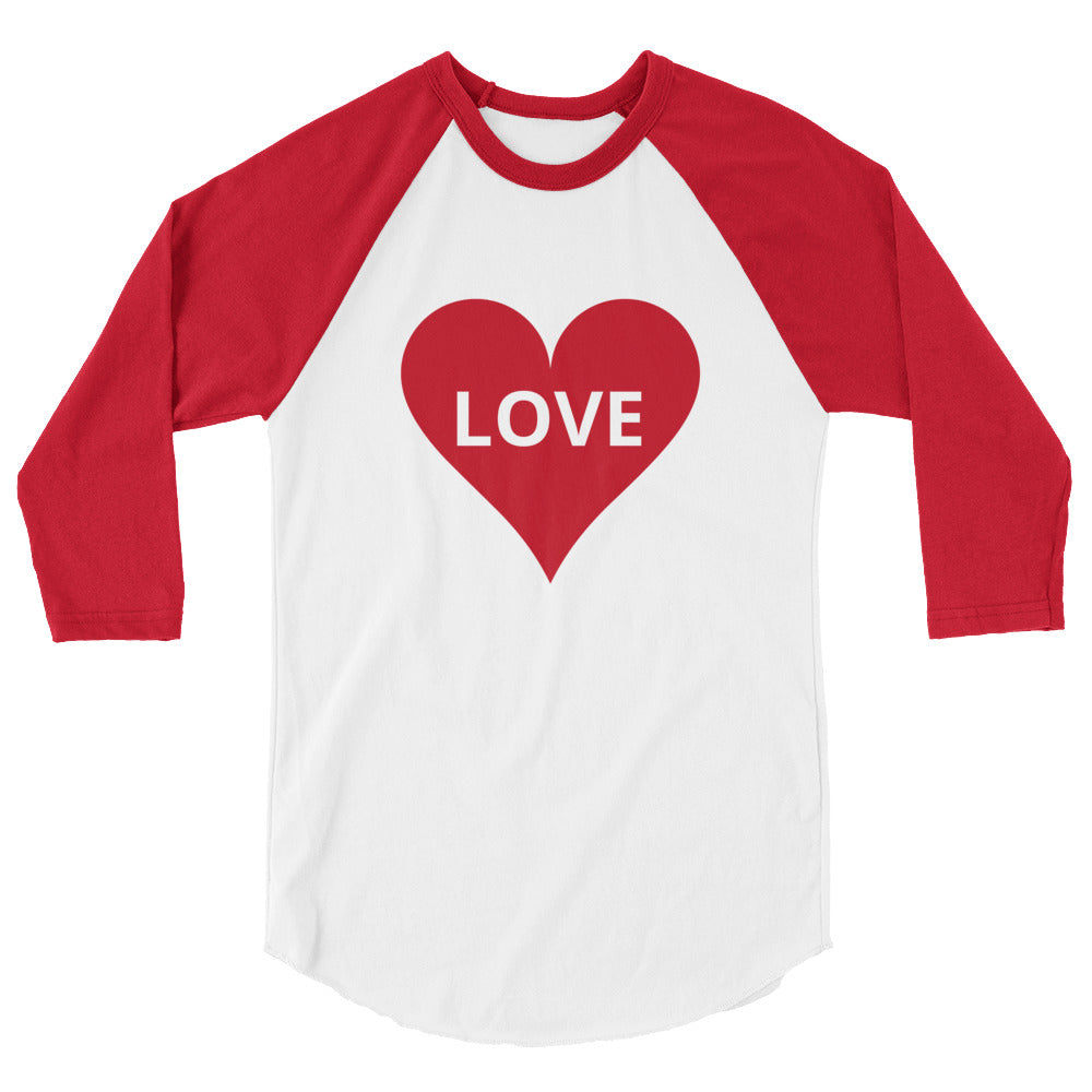 Custom Love 3/4 Sleeve Raglan Shirt Women