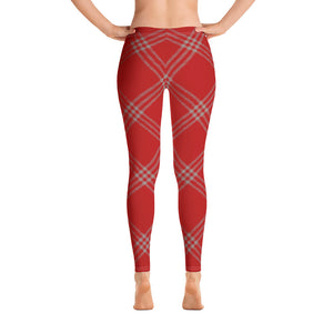 Red Plaid Leggings for Women | Mynkoo.com