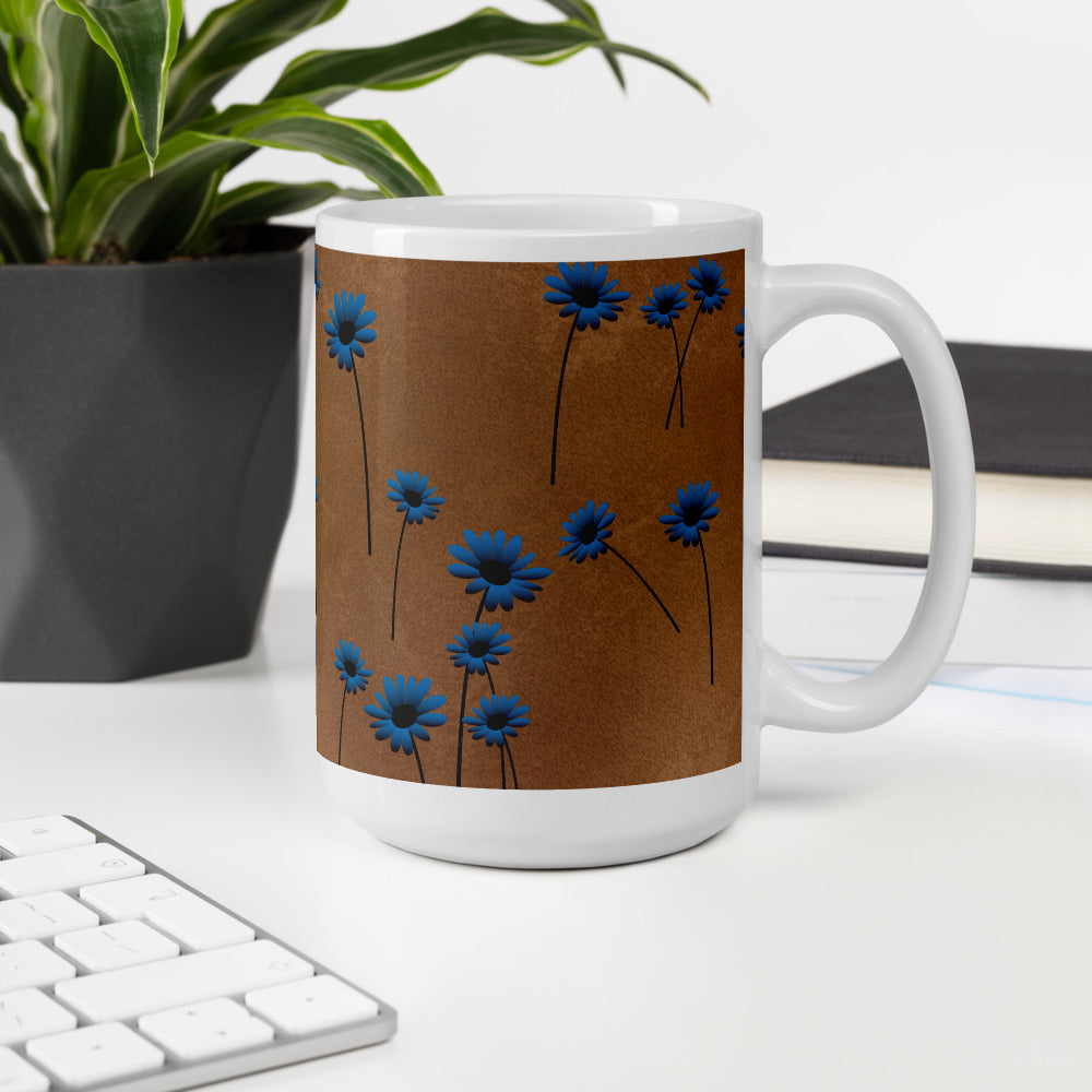 Floral Leather Coffee Mug