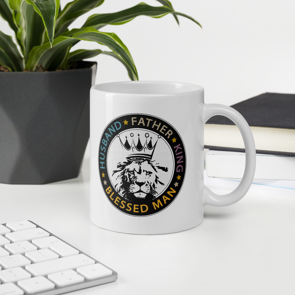 Husband Father King Blessed Man Father's Day Coffee Mug