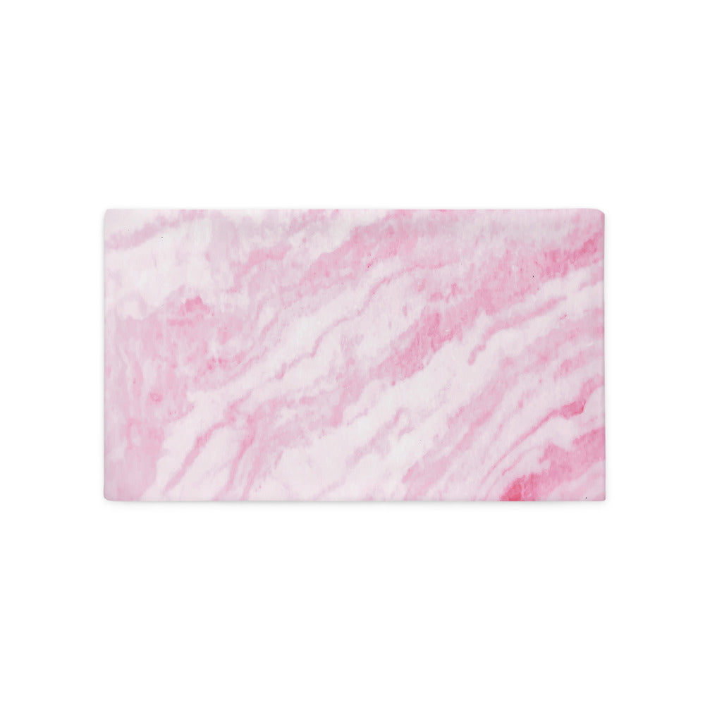 Pink Marble Texture Pillow Case