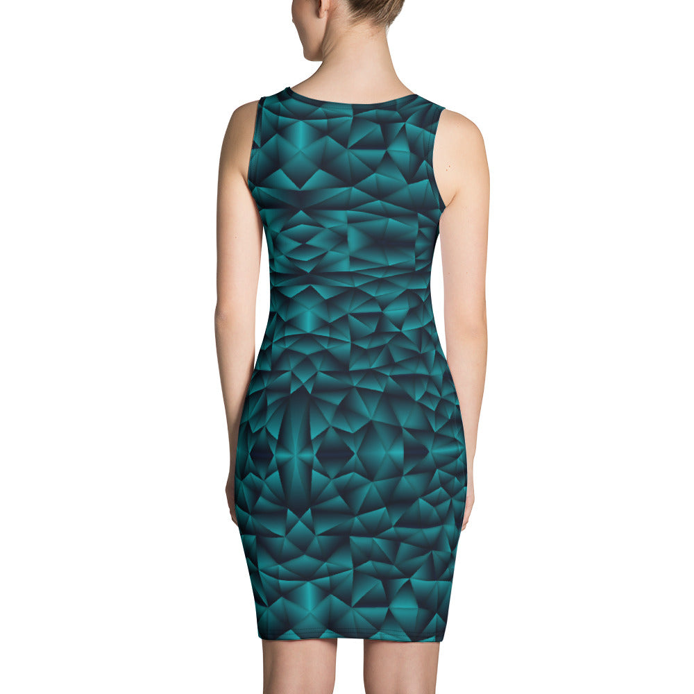 Teal Green Party Dress