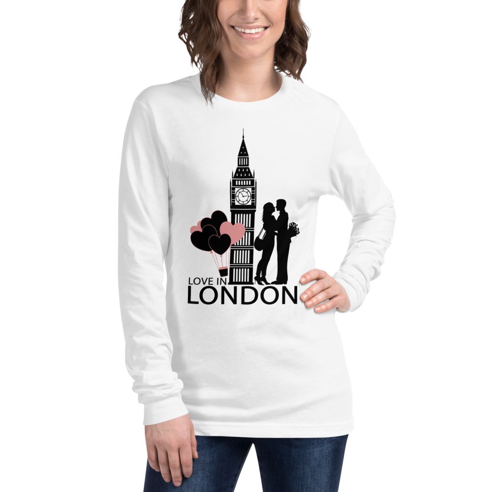 London Valentine's Day T-Shirt Long Sleeve