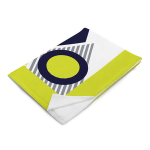 Abstract Geometric Lemon Throw Blanket