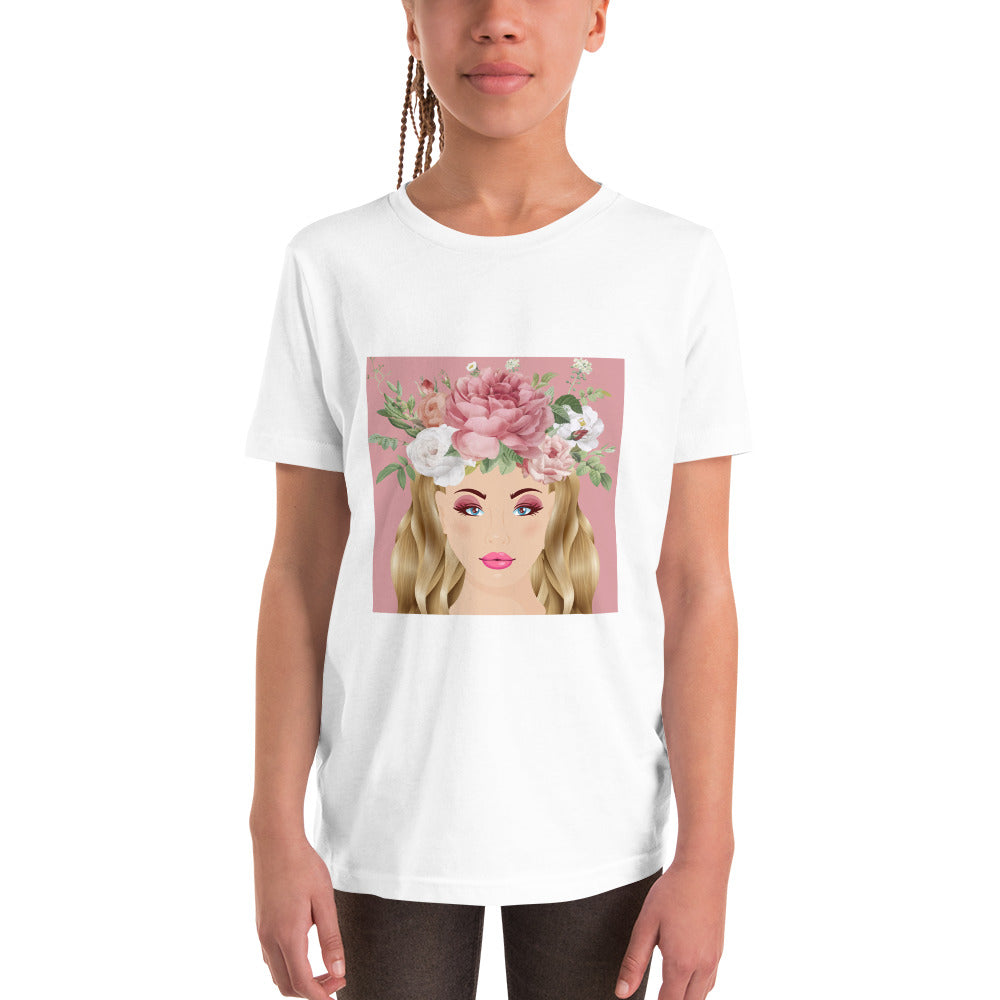 Rose Fairy White T-Shirt for Girls