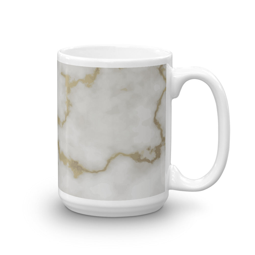 Pearl White Abstract Marble Coffee Mug