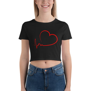 Red Heart Crop Top for Valentines Day