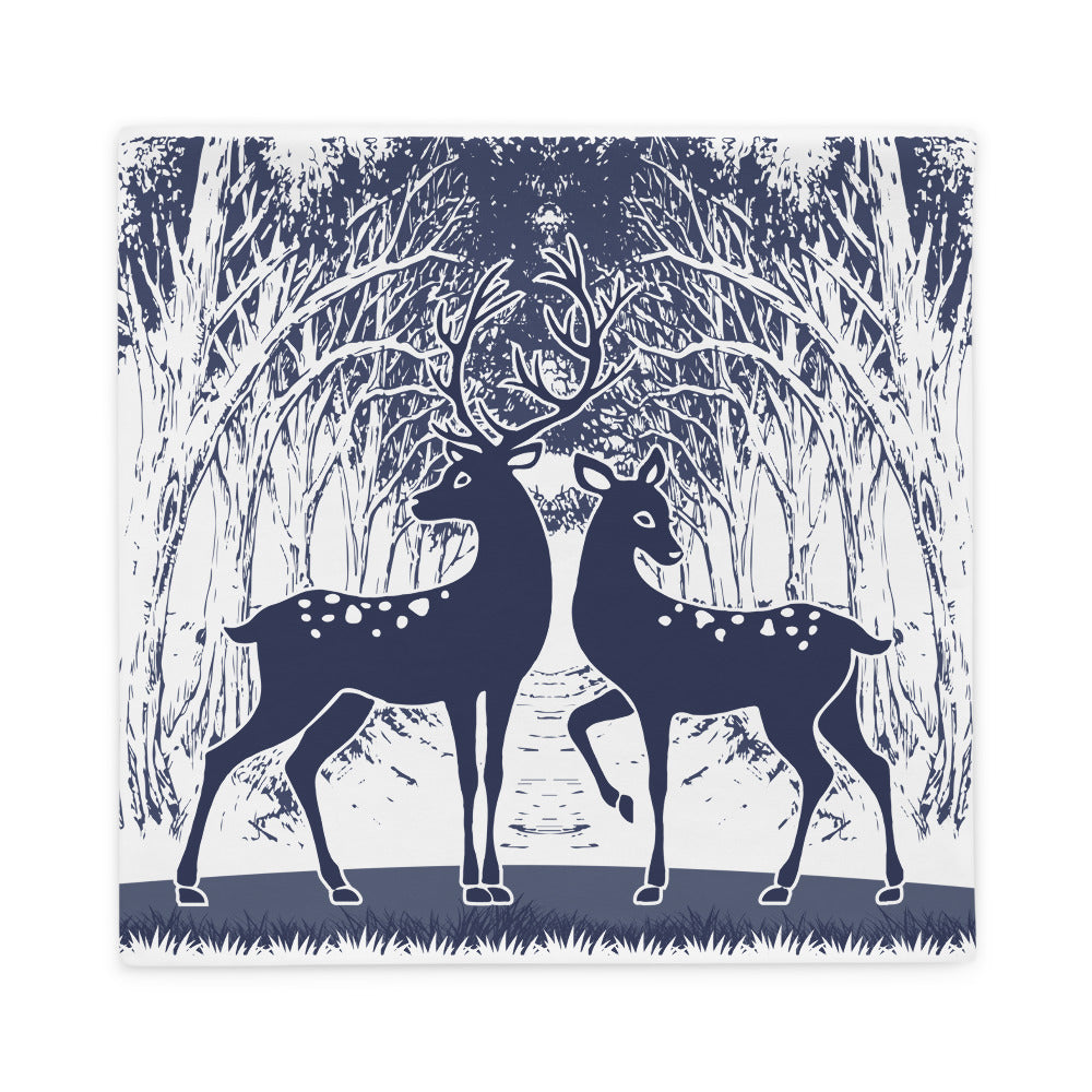 Wild Deer Pillow Case