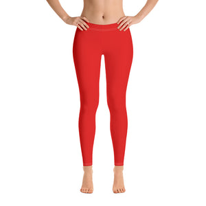 Red Color Basic Leggings